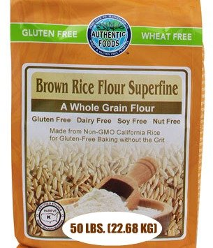 Authentic Foods Superfine Brown Rice Flour, 50 Pound by Authentic Foods