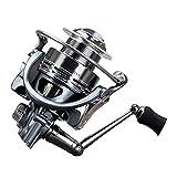 Carbon Frame Spinning Reel Fishing Metal Coil 2000 3000 4000 5000 6000 Spinning Fishing Reel No Gap 10+1Bb Ratio 5.5:1