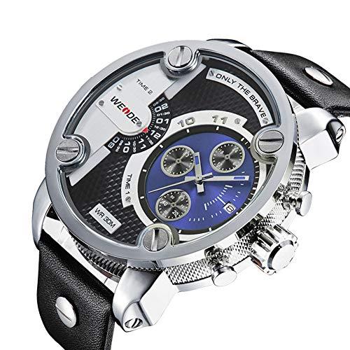Men's Fashion Sports Watch Multi-function Date Watch Luxury Fashion Rubber Analog Waterproof Watch-blue