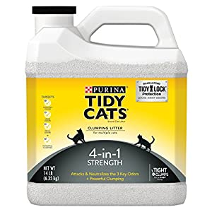 Purina Tidy Cats 4-in-1 Strength Clumping Cat Litter,14-Pound Jug, Pack of 3 66