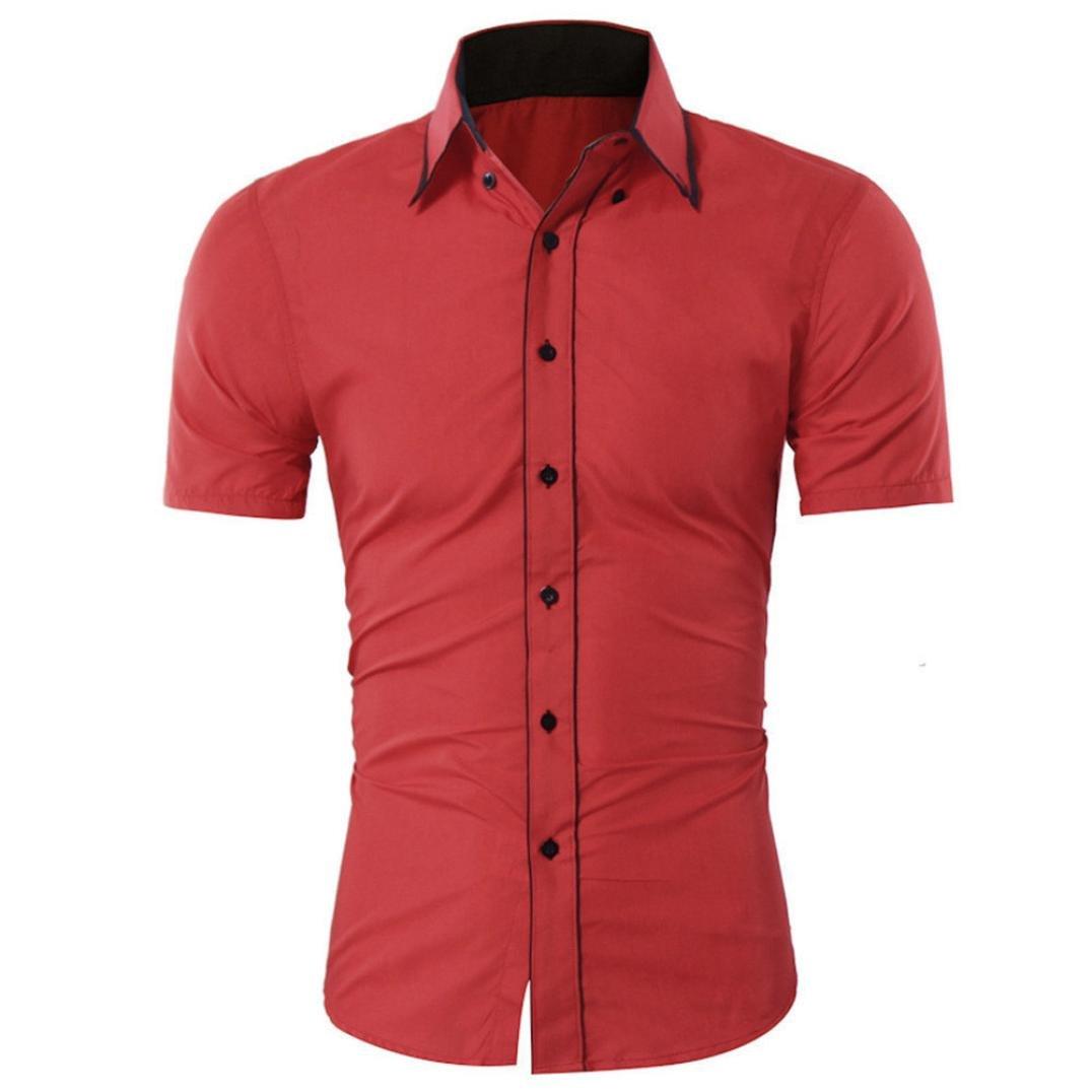 Hommes chemises Manadlian Shirt Homme Manches Courtes T 8wPkX0On