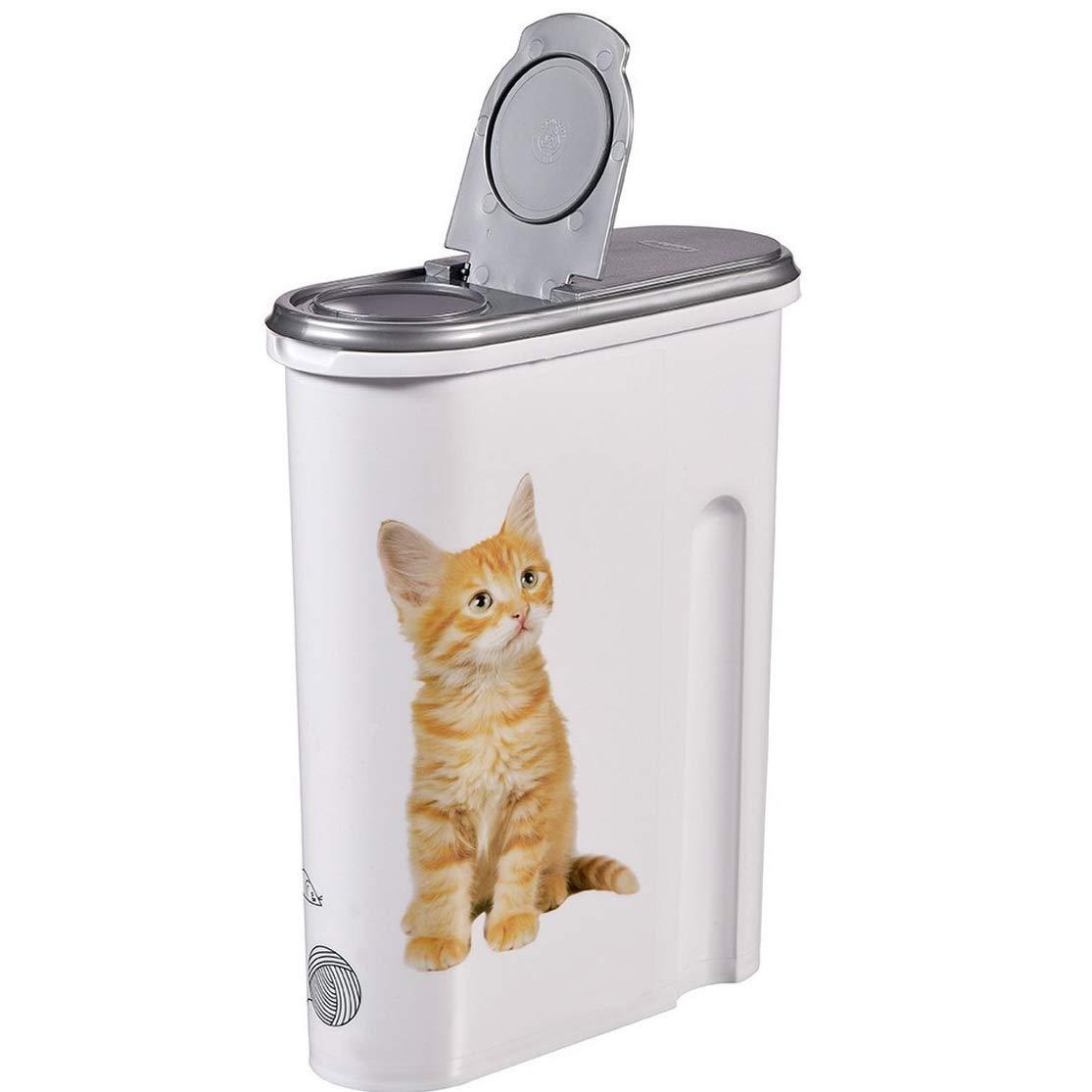 Générique Boite à Croquettes Chat - 4, 5 litres - Boite Conteneur Nourriture - Design Chat
