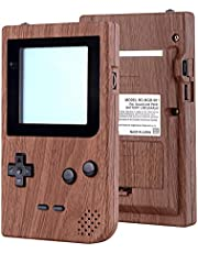 eXtremeRate Wood Grain Patterned Custom Full Housing Cover for Gameboy Pocket, Soft Touch GBP Replacement Shell for Game Boy Pocket w/Screen Lens & Buttons Kit - Handheld Game Console NOT Included