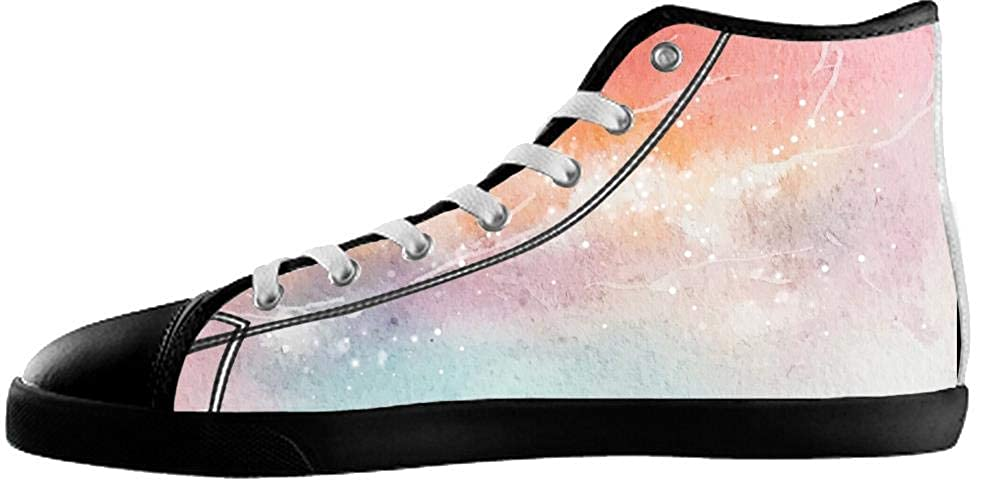 UlanLi Canvas Womens Shoes Shoes with Starry Sky High Top Canvas Womens Shoes