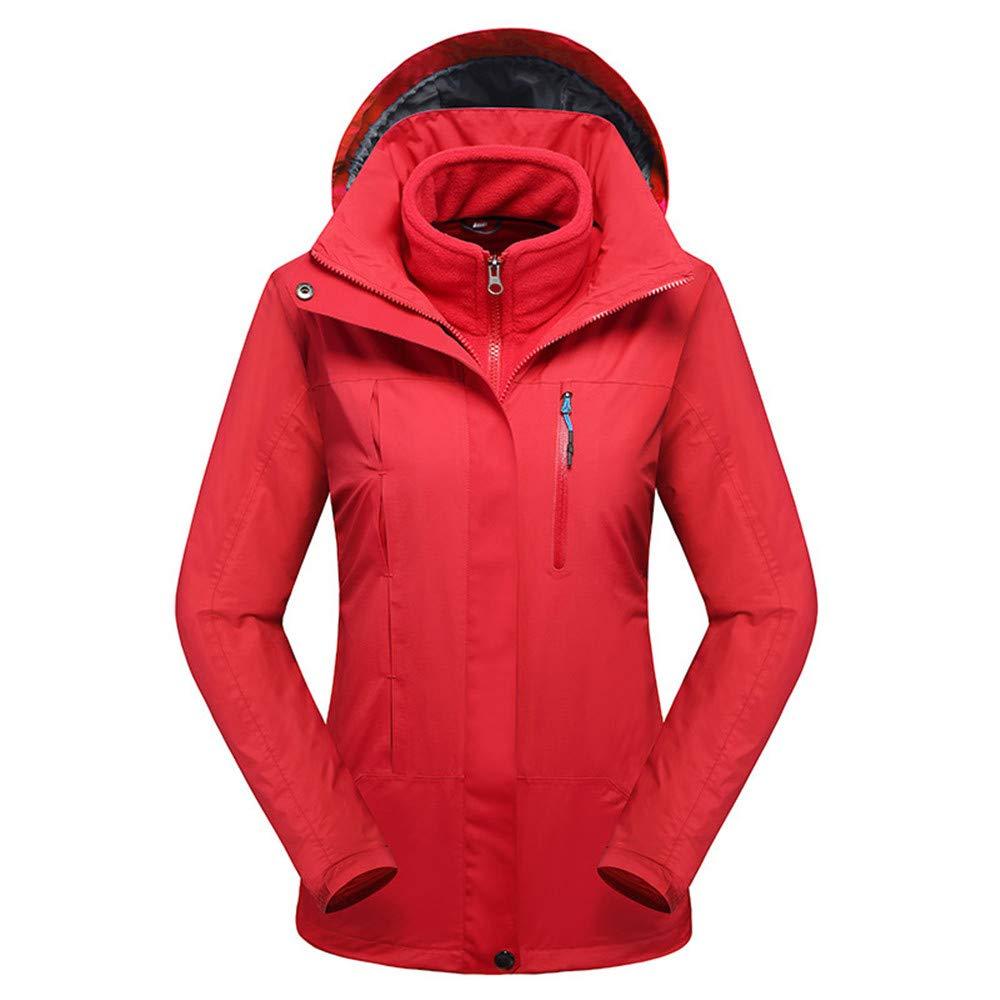 AiNaMei Frauen Herbst/Winter Outdoor Jacken verdicken warme Skianzüge Bergsteigen tragen
