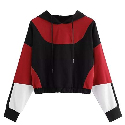 2907c8c7 Amazon.com: Gyouanime Women Pullover Jumpers Winter Sweater Tops Girls  Hoodie Coats Winter Outwear Coats Hooded Sweatshirt: Clothing