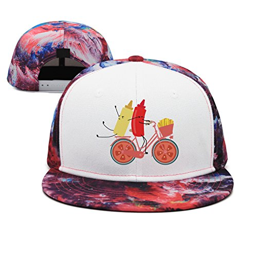 (w4a4zp57uq4 Unisex You Gotta Ketchup Tomato Sauce Bicycle Baseball Cap Funny Outdoor Sport Cap)