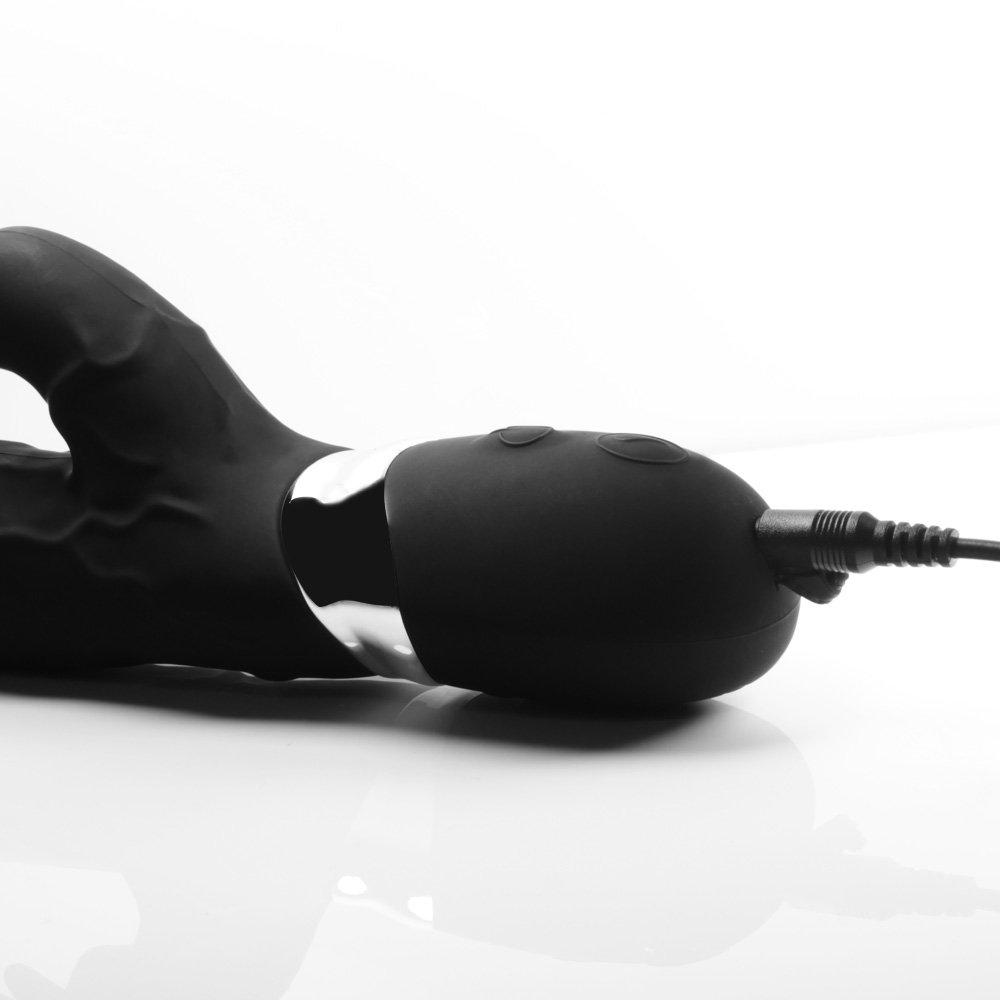 ZJWZ Clítoris Masajeador Femenino Y G-Punto Juguetes Sexy Consolador para Parejas Femeninas, Consolador Sexy De Silicona Potente Conejo Vibrador con 7 Frecuencia De Vibración A Prueba De Agua,Black e4eb56