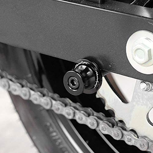 Negro 2pcs Diabolos M8*1.5 CNC Aluminio 8mm Tornillos para Honda CB650R CB 650 R