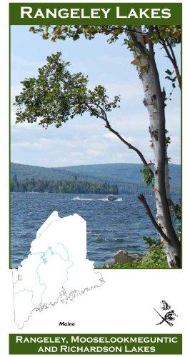 Rangeley Lakes 11x17 Fly Fishing Map (Charts Maine Lake)