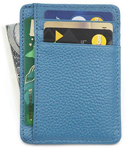 c8d58b3e3e5b Zhoma RFID Blocking Wallet Slim Front Pocket Leather Card Holder ...