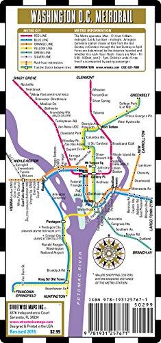 Streetwise Washington DC Metro Map - Laminated Washington DC Metrorail & Mall Map - Pocket - Of Mall La Map