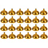 Juvale Mini Flag Stands - 24-Pack Table Flag Holders, Mini Flag Bases, Holds 4 x 6-Inch Mini Stick Flags, Ideal for Table Centerpiece, Party Supplies and Decoration, Gold, 2.1 x 1.5 Inches