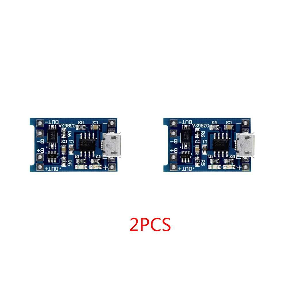 Riverlily 1/2/5PCS 5V Micro Rechargeable USB 1A 18650 Lithium Battery Charger Module Charging Board