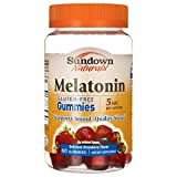 Sundown Naturals Melatonin 5 Milligram Gummies (Count 60), Strawberry Flavored, Supports Sound, Quality Sleep Non-GMO, No Artificial Flavors