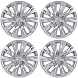 "BDK KT-1037-16 Silver K1037 Hub Caps (Wheel Covers) for Toyota Camry 2012-2013 16"" - Four (4) Pieces Corrosion-Free & Sturdy - Full Heat & Impact Resistant Grade - OEM Replacement"
