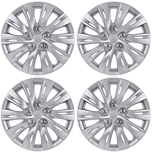 BDK K1037 Silver Hub Caps (Wheel Covers) for Toyota Camry 2012-2013 16