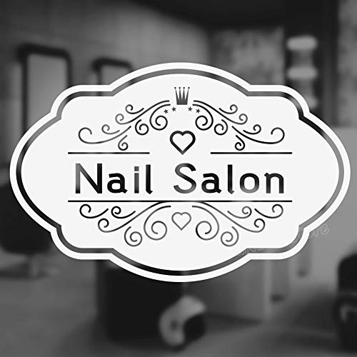 Fuirs Quotes Art Decals Vinyl Removable Wall Stickers Nail Bar Salon Quote for Beauty Salon Manicure Nail Salon Sofa Background Decor Pedicure Posters