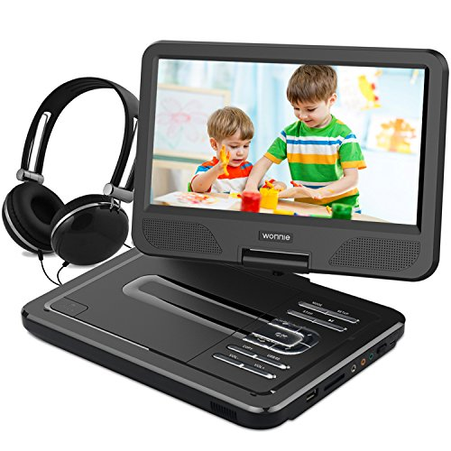 WONNIE 10.5 Inch Portable DVD Player for Kids with 4 Hours r
