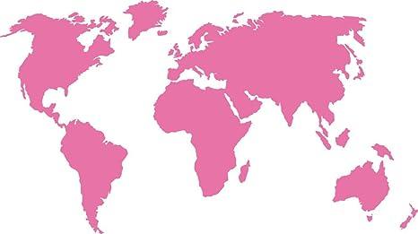 Graz Design Xxl Motivo Cartina Del Mondo Rosa Pallido 151x90cm