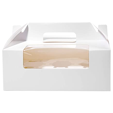 Cajas para Cupcakes, Vordas 12PCS Muffin Cupcake Boxes for 6 Cupcake, Perfecto para Decorar