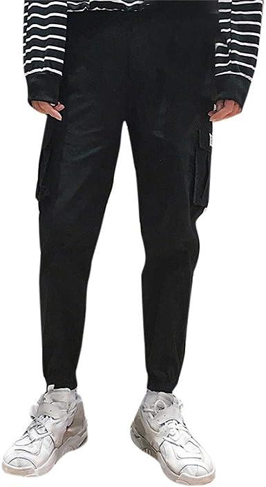 VPASS Pantalones Hombre, Pantalones Casuales Moda Trabajo Pantalones Jogging Pantalon Fitness Pantalones Chandal Hombre Suelto Largos Pantalones Algodón Ropa de Hombre Pantalones de Trekking: Amazon.es: Ropa y accesorios