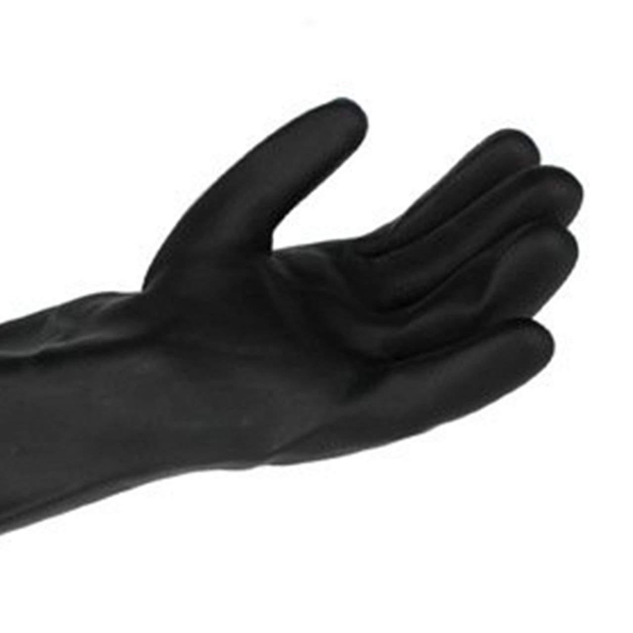 Heaviesk 1 par de guantes qu/ímicos guantes de goma resistentes a los qu/ímicos guantes de l/átex resistentes al aceite /ácido para la industria dom/éstica guantes de seguridad laboral