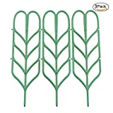 ASSR Garden Trellis, DIY Garden Plant Pot Leaf Shape Mini Climbing Trellis Plant Support(3 Pack)
