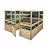 Outdoor Living Today Raised Garden Bed 8 x 12 with Deer Fence Kit