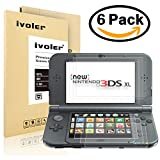 [6 Pack] iVoler Nintendo New 3DS XL Top and Bottom LCD Screen Protector for Japanese HD Clear Crystal PET LCD Screen Protective with Anti-Bubble and Anti-Fingerprint Invisible Shield-Lifetime Warranty