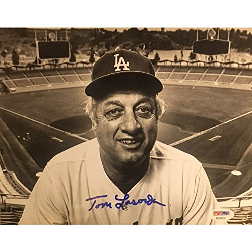 Tommy Lasorda Autographed Los Angeles Dodgers Signed 8x10 Baseball Photo PSA DNA COA ()