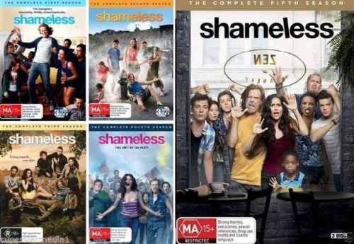 Shameless: Complete Seasons 1 - 5 Collection (15-Disc, 2015, DVD) by Warner Manufacturing
