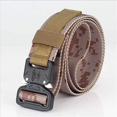 PIDAIKING Belt Men's Canvas Belt Quick Release Metal Buckle Nylon Training Belt Military Army Tactical Belts for Men Jeans Male Strap,Camouflage 1
