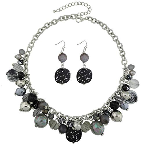 COIRIS Women's Beaded Strand Statement Necklace Beads Collar - Bella Jewelry Beaded