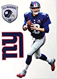 Eli Manning Mini FATHEAD + New York Giants Logo + Bonus Manning Graphic - Official NFL Vinyl Wall Graphics 7'' INCH