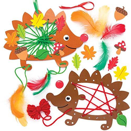 Baker Ross Hedgehog Dreamcatcher Kits (Pack of 4) for Kids Arts, Crafts and Decorations