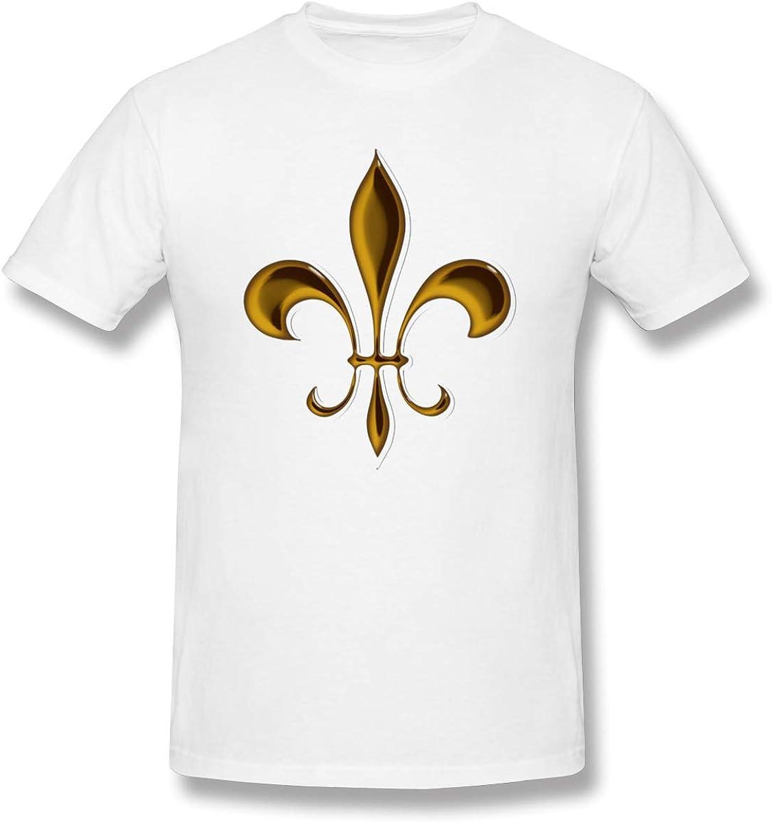 Camisetas Blancas de algodón con diseño de Flor de lis para Hombre: Amazon.es: Ropa y accesorios