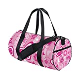 U LIFE Spring Summer Valentines Day Love Heart Butterfly Stars Sports Gym Shoulder Handy Duffel Bags for Women Men Kids Boys Girls