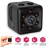 [Newest 2018 Upgraded] Hidden Spy Camera 1080p Home - Mini FullHD Small Advanced Security Motion Spy Cam Night Vision Audio Mounts - No WiFi