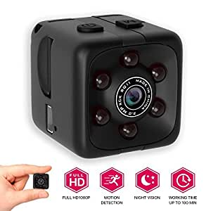 [NEWEST 2018 UPGRADED] Hidden Spy Camera 1080p for Home - Mini FullHD Small Advanced Security Motion Spy Cam with Night Vision and Audio with Mounts - No Wifi