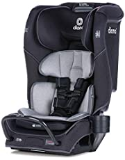 Diono Radian 3QX 4-in-1 Rear and Forward Facing Convertible Car Seat, Safe Plus Engineering 3 Stage Infant Protection, 10 Years 1 Car Seat, Slim Design - Fits 3 Across, Jet Black
