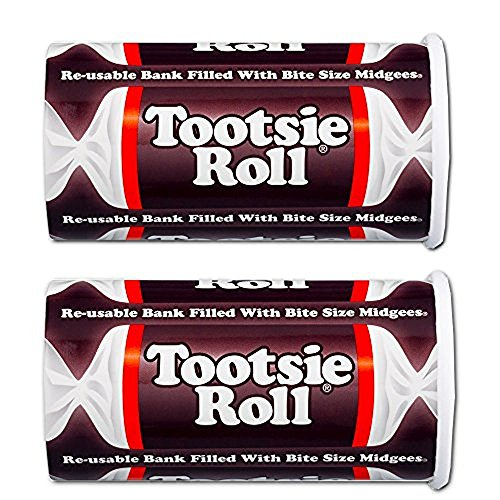 Tootsie Roll Bank, 4oz (Pack of 2)