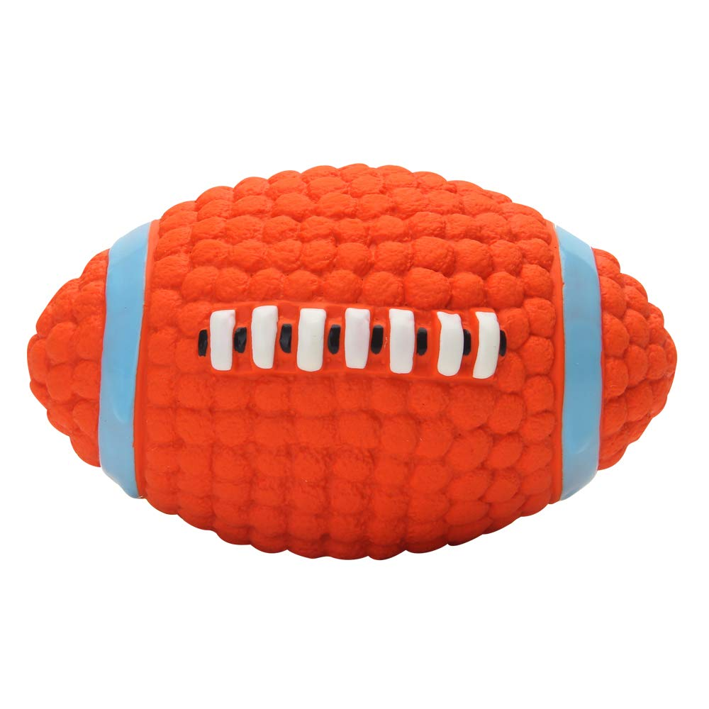 More Eetoys Dog Latex Squeaky Rugby Ball Toy (Medium)