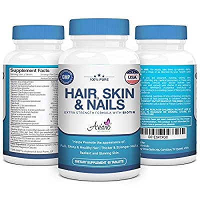 Biotin Multivitamin Complex: Vitamins for Hair Growth - Skin, Nails & Hair Loss Supplement for Men & Women - Supports Hair Regrowth by targeting Vitamin Deficiencies by Aviano Botanicals