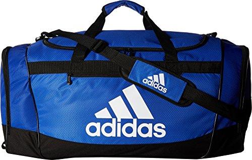 adidas Defender III Duffel Bag, Blue/Black/White, Large
