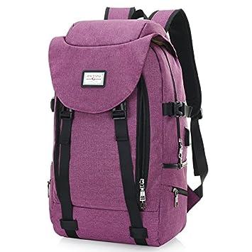 Super moderno unisex nylon mochila escolar con USB puerto de carga para ordenador portátil de 15