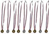 Torch award Medals (2 Dozen) - Bulk - Gold, silver, and bronze Olympic Style Award medals by happy deals
