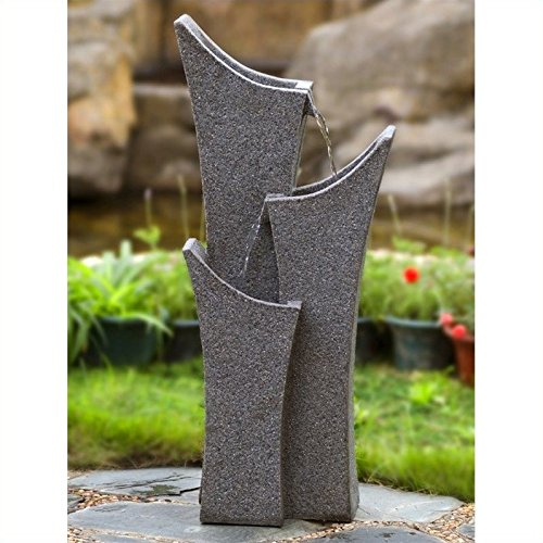 Jeco Gray Sandstone Indoor Outdoor Water Fountain