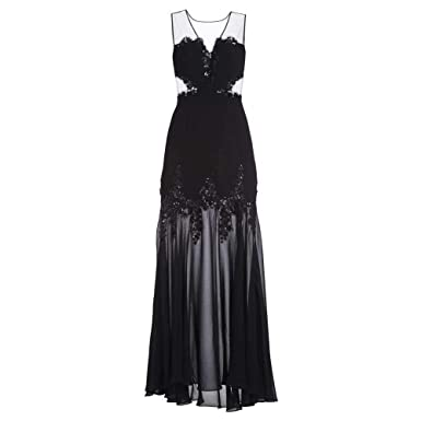fa2b5a95 Amazon.com: BCBGMAXAZRIA BCBG Maxazria Juliane Mesh Yoke Gown: Clothing