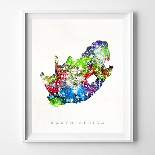 South Africa Watercolor Map Home Decor W Buy Online In Grenada At Desertcart,South African Home Decor Magazines